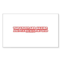 The Voices Are Having a Battl Rectangle Sticker 5