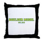 Boulder Model Throw Pillow