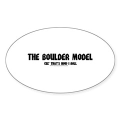 That's How I Roll Oval Sticker (10 pk)