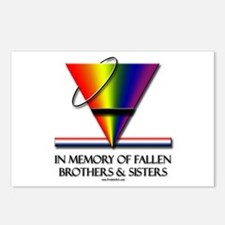 Fallen Pride - Support Our Gay Troops Postcards (P