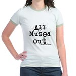 Mused Out Jr. Ringer T-Shirt