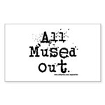 Mused Out Rectangle Sticker 50 pk)