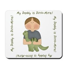 My Daddy is Dino-Mite (Brown hair boy) Mousepad