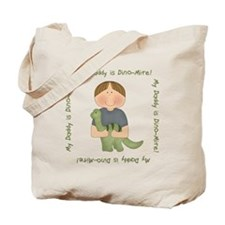 My Daddy is Dino-Mite (Brown hair boy) Tote Bag