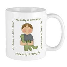 My Daddy is Dino-Mite (Brown hair boy) Mug