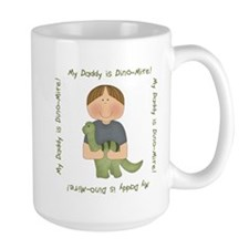 My Daddy is Dino-Mite (Brown hair boy) Mug