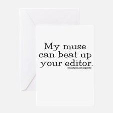 Violent Muse (Editor) Greeting Card
