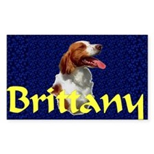 Brittany Spaniel Rectangle Sticker 10 pk)