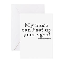 Violent Muse (Agent) Greeting Cards (Pk of 10)