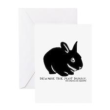 Beware Plot Bunny Greeting Card