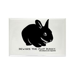 Beware Plot Bunny Rectangle Magnet