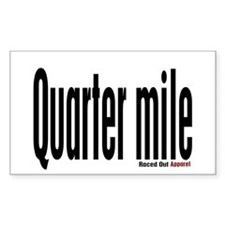 Quarter mile Rectangle Decal