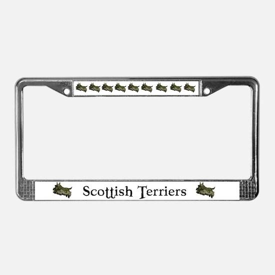 Scottish Terrier License Plat License Plate Frame