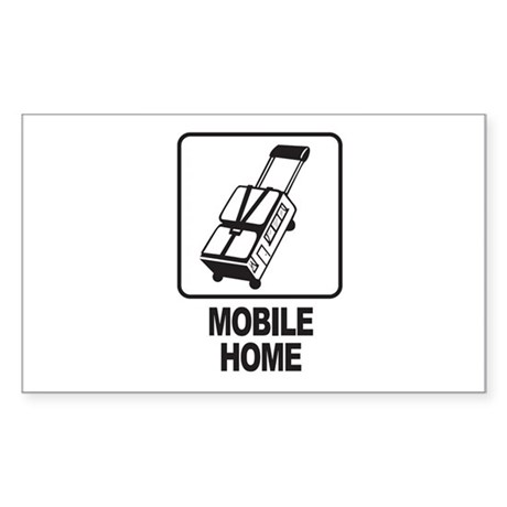 Mobile Home Rectangle Sticker
