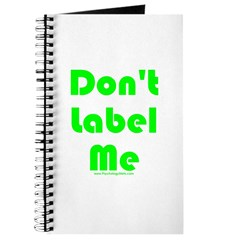 Don't Label Me Journal