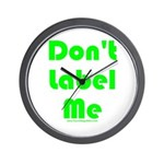 Don't Label Me Wall Clock