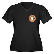 Instant Carpenter Women's Plus Size V-Neck Dark T-