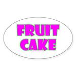 Fruit Cake Oval Sticker