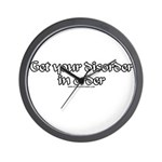 Get Your Disorder In Order Wall Clock