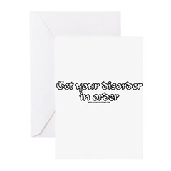 Get Your Disorder In Order Greeting Cards (Pk of 1