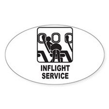 Inflight Service Oval Decal