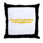 You Aren't Mistaken Throw Pillow