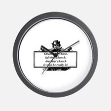 """Obama Quit His Church"" Wall Clock"