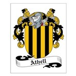 Athell Family Crest Small Poster