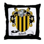 Athell Family Crest Throw Pillow