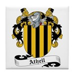 Athell Family Crest Tile Coaster