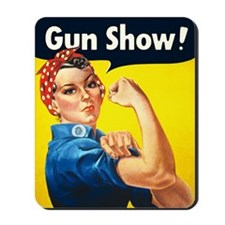 Rosie Riveter Gun Show Mousepad
