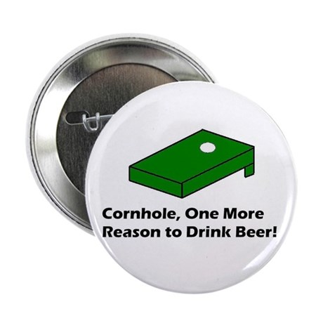 "Cornhole and Beer 2.25"" Button"