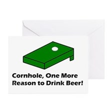 Cornhole and Beer Greeting Cards (Pk of 20)