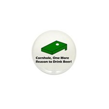 Cornhole and Beer Mini Button (10 pack)