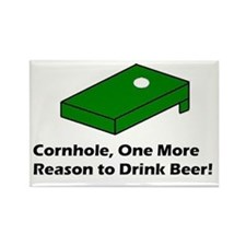 Cornhole and Beer Rectangle Magnet