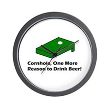 Cornhole and Beer Wall Clock