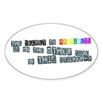 Secret to Happiness Prank Oval Sticker