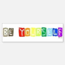 Be Yourself Rainbow 'Pride' Bumper Car Car Sticker
