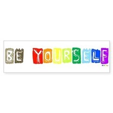 Be Yourself Rainbow 'Pride' Bumper Car Sticker