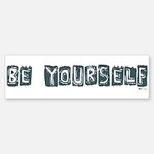 Be Yourself Camo Blue bumper sticker