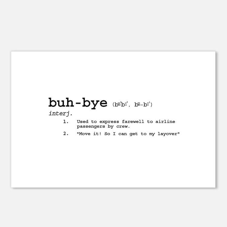 Buh-Bye! Postcards (Package of 8)