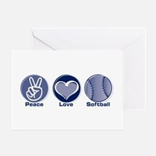 Peace Love Softball Greeting Card
