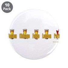 "Cute French beer 3.5"" Button (10 pack)"