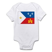 Cajun Flag Infant Bodysuit