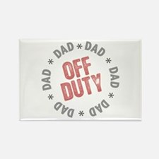 Off Duty Dad Rectangle Magnet