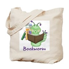 Reading Bookworm Tote Bag