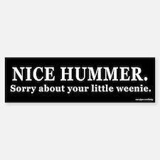 Nice Hummer Little Weenie Bumper Bumper Bumper Sticker