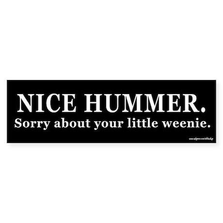 Nice Hummer Little Weenie Bumper Sticker