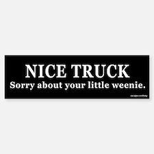 Nice Truck Little Weenie Bumper Bumper Bumper Sticker