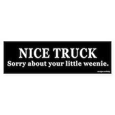 Nice Truck Little Weenie Bumper Bumper Sticker